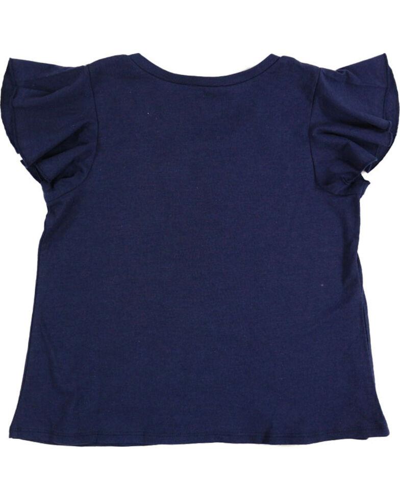 Shyanne Girls' Navy Brave Spirit Short Sleeve Shirt , Navy, hi-res