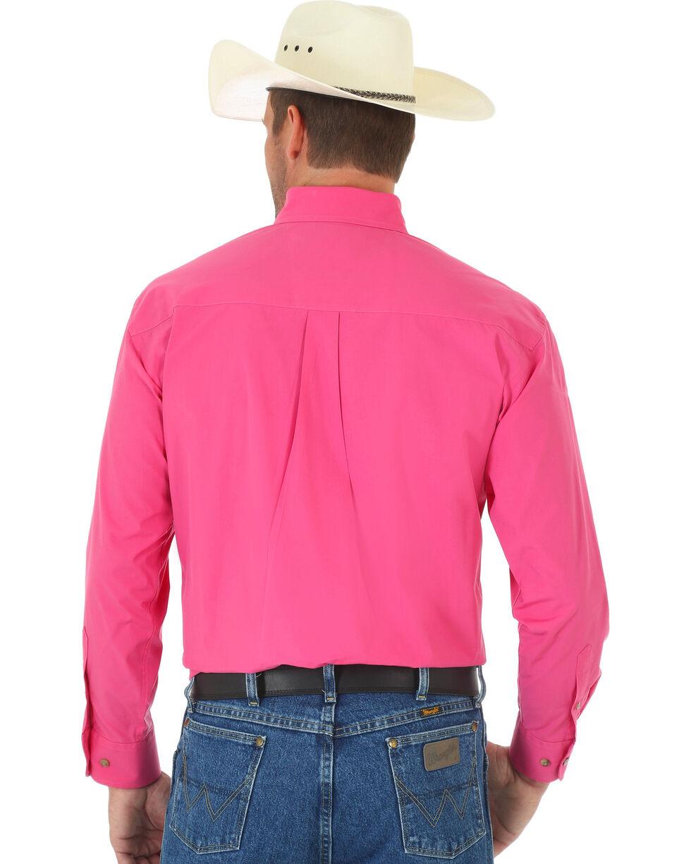 George Strait by Wrangler Men's Pink Long Sleeve Western Shirt, Pink, hi-res