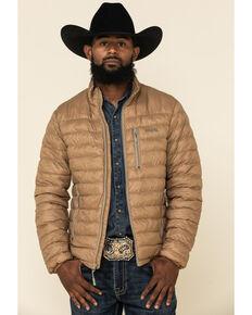 Resistol Men's Tan Cold Bloq Zip-Front Jacket , Tan, hi-res