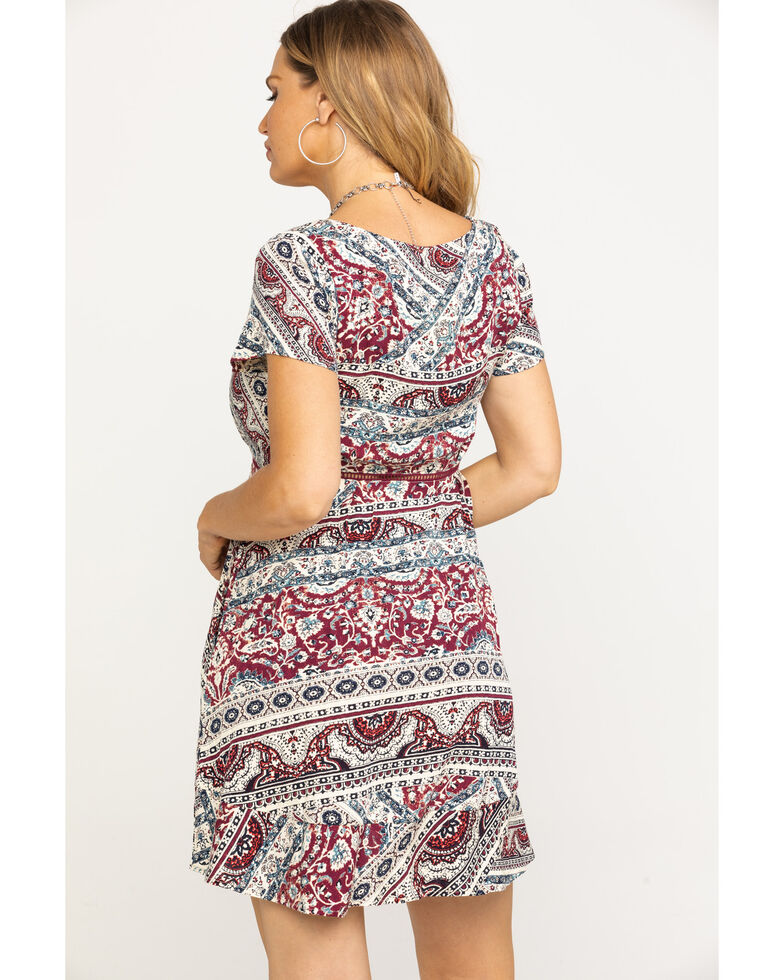 Idyllwind Women's Wild at Heart Dress, Burgundy, hi-res