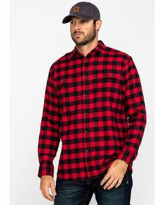 Dickies Men's Flex Stretch Flannel Long Sleeve Work Shirt , Red, hi-res