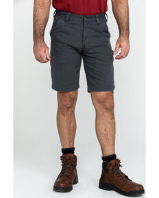 "Carhartt Men's 11"" Rugged Flex Dungaree Rigby Work Shorts , Dark Grey, hi-res"