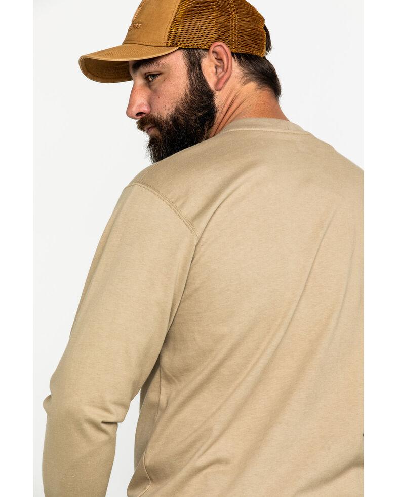 Carhartt Men's Flame-Resistant Force Long Sleeve Work T-Shirt , Beige/khaki, hi-res