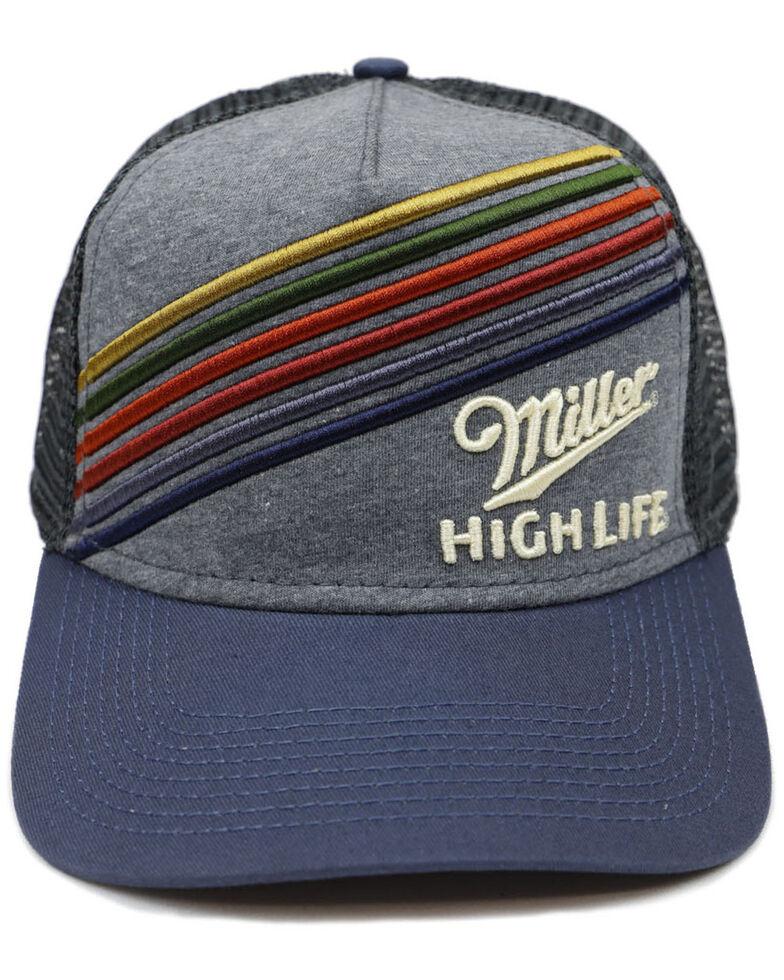 H Bar C Men's Miller High Life 3D Embroidered Mesh Ball Cap , Multi, hi-res