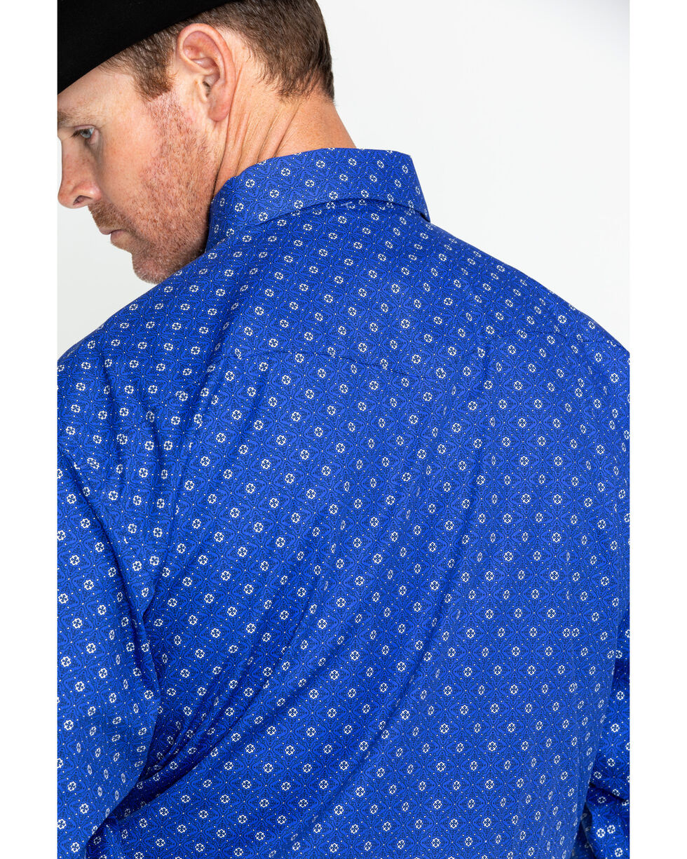 George Strait by Wrangler Men's Long Sleeve Troubadour Shirt , Blue, hi-res