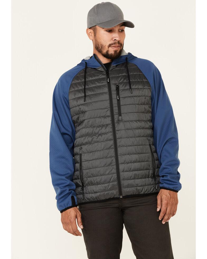 Wrangler ATG Men's All-Terrain Blue Outrider Zip-Front Hooded Jacket , Blue, hi-res