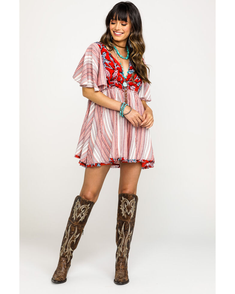 Free People Women's Under The Sun Tunic Dress, Red, hi-res