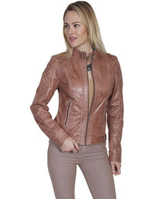 Leatherwear by Scully Women's Beige Jacket, Beige/khaki, hi-res