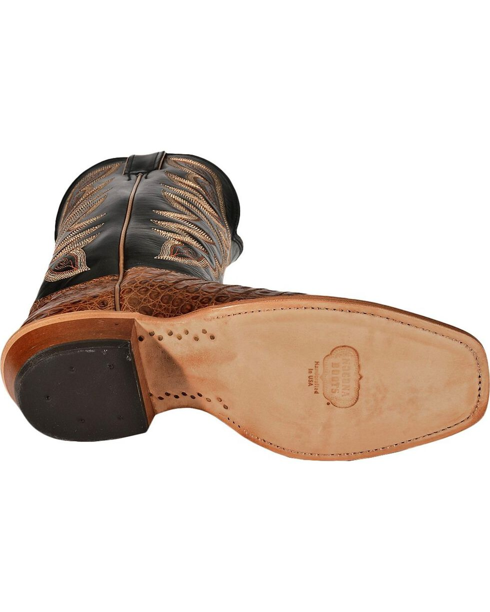 Nocona Caiman Cowboy Boots - Narrow Square Toe, Cognac, hi-res