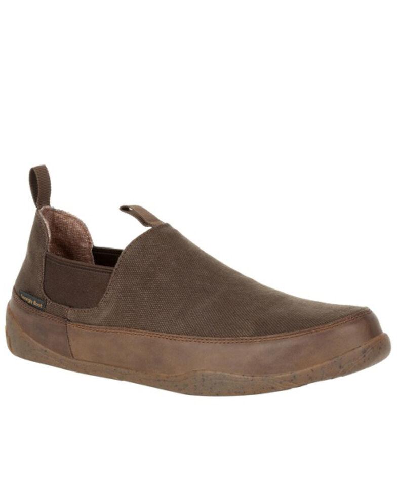 Georgia Boot Men's Cedar Falls Romeo Shoes - Round Toe, Brown, hi-res