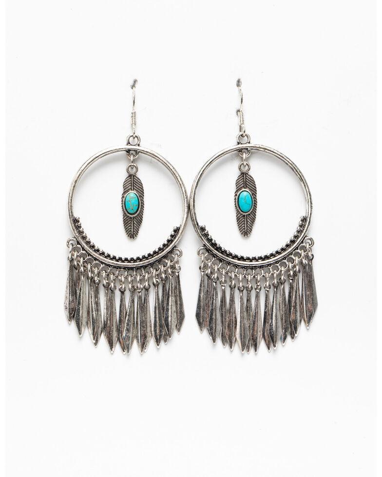 Idyllwind Women's Hidden Treasures Hoop Earrings, Silver, hi-res