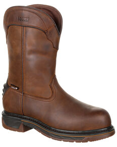 Rocky Men's Iron Skull Waterproof Western Boots - Composite Toe, Dark Brown, hi-res