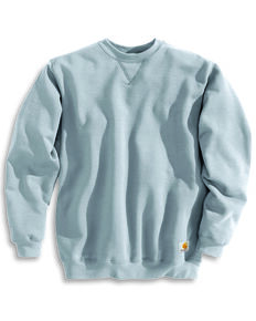 Carhartt Midweight Crew Neck Sweatshirt - Big & Tall, Hthr Grey, hi-res