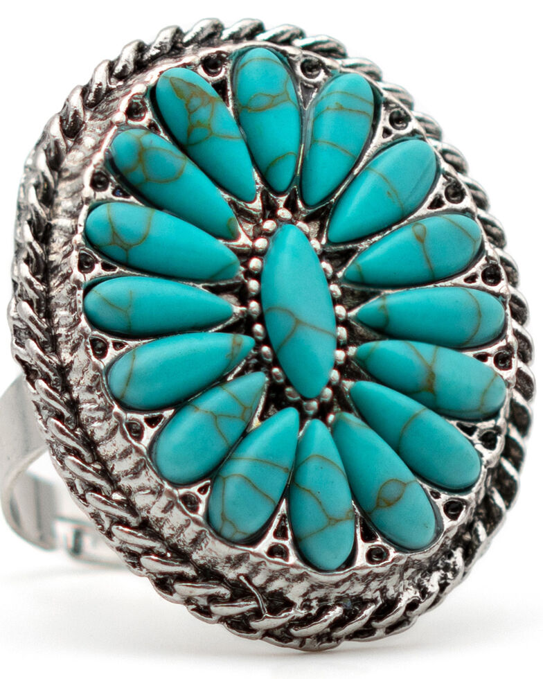 Cowgirl Confetti Women's Spring Bloom Ring, Silver, hi-res