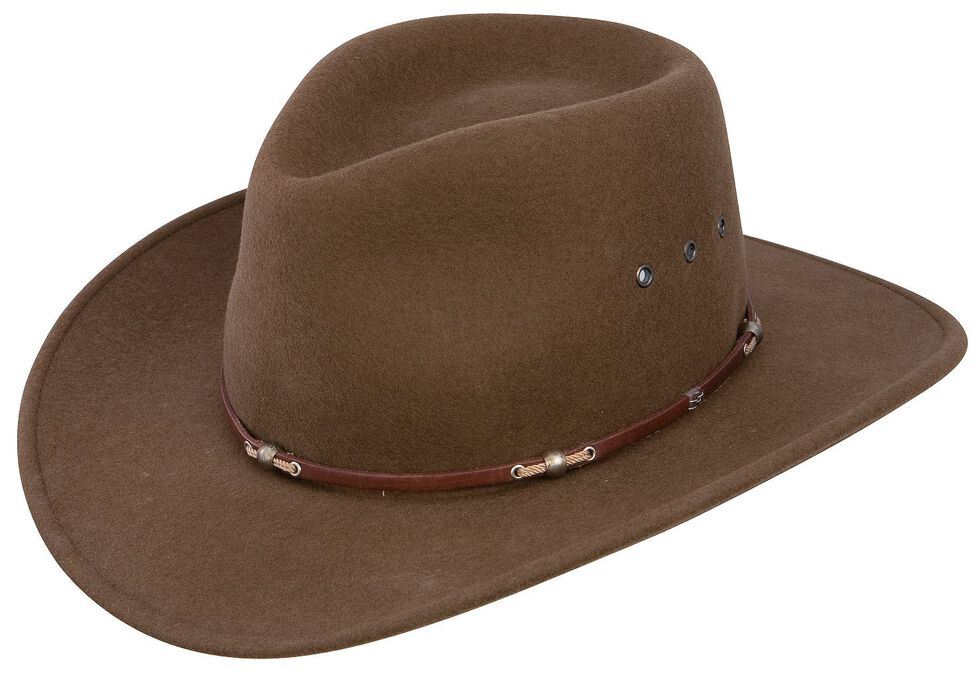 Stetson Wildwood Acorn Crushable Wool Felt Hat, Acorn, hi-res