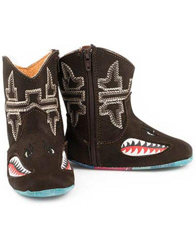 Tin haul Infant Boys' Shark Boots, Brown, hi-res