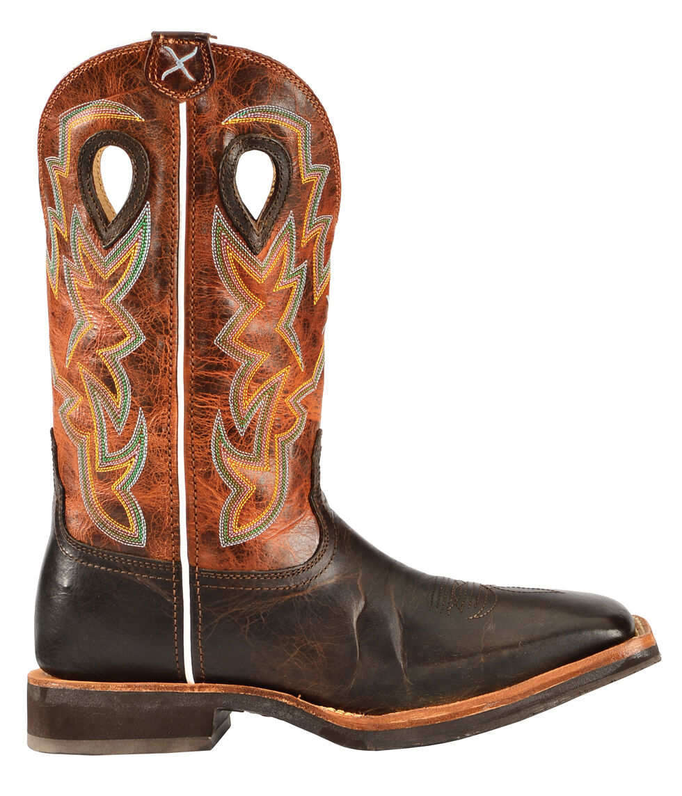 Twisted X Horseman Cowboy Boots - Square Toe, Chocolate, hi-res