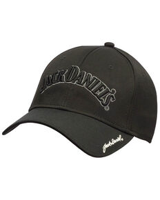 Jack Daniels Men's Black Performance Ball Cap, Black, hi-res
