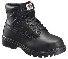 Avenger Men's Black Work Boots - Steel Toe, Black, hi-res
