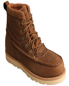 "Twisted X Men's 6"" Alloy Toe Wedge Work Boots, Brown, hi-res"
