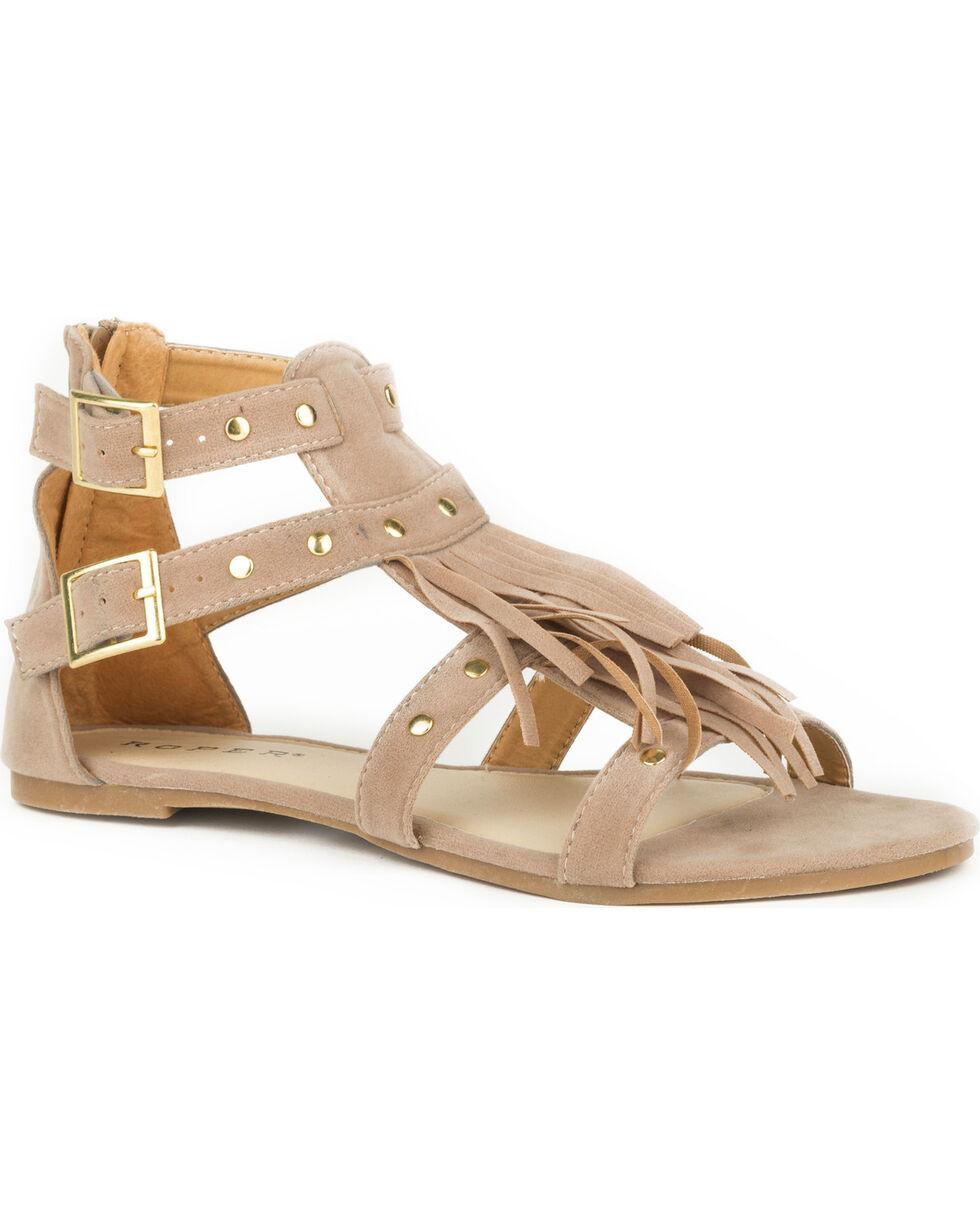 Roper Women's Tan Maya Sandals , Tan, hi-res