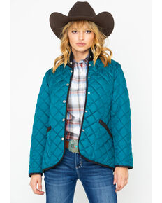 Outback Trading Co. Women's Barn Snap Front Jacket , Teal, hi-res