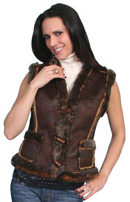Scully Faux Shearling Vest, Espresso, hi-res