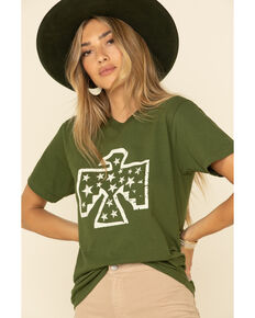 Ali Dee Women's Olive Thunderbird Graphic Tee , Olive, hi-res