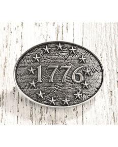 Cody James Men's Antique Silver 1776 Belt Buckle, Silver, hi-res