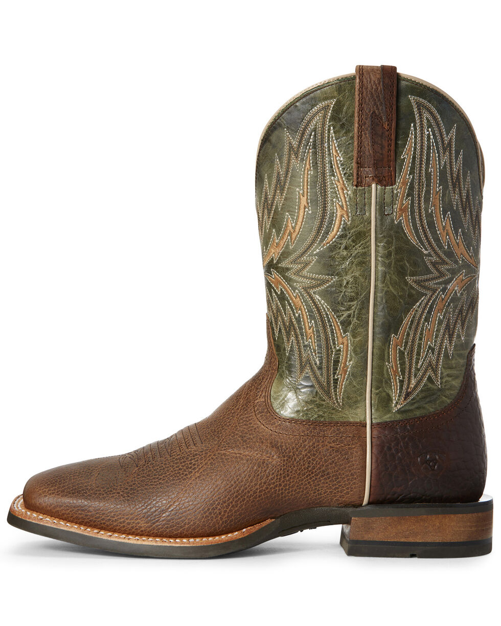 Ariat Men's Arena Rebound Western Boots - Wide Square Toe, Brown, hi-res