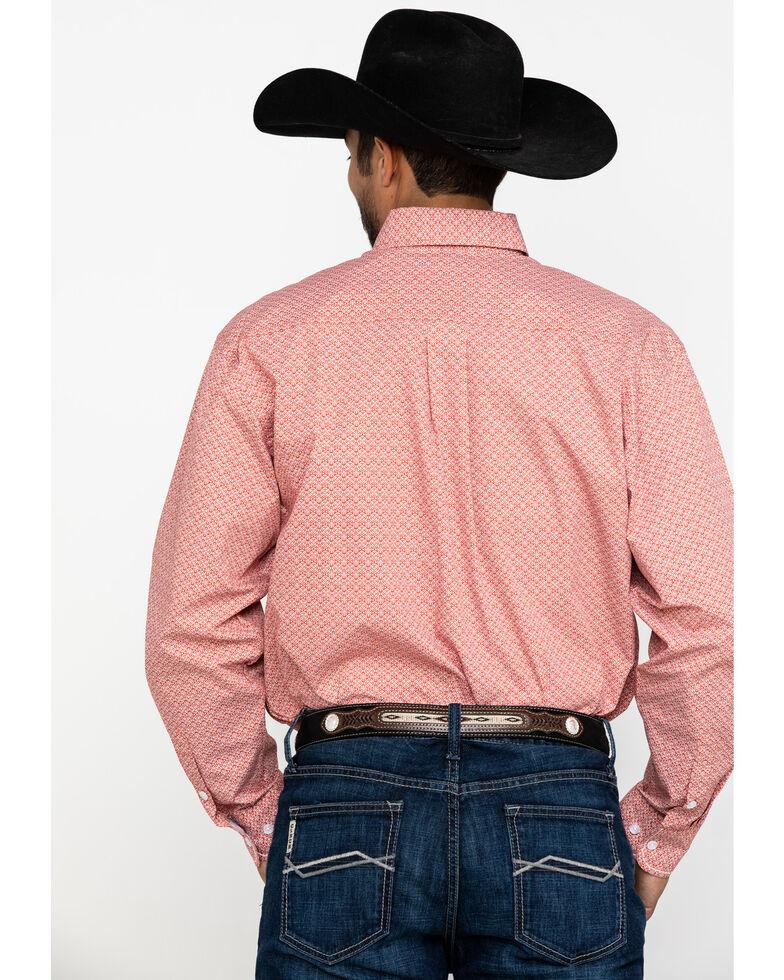 Rough Stock By Panhandle Coral Halsey Vintage Print Long Sleeve Western Shirt , Coral, hi-res