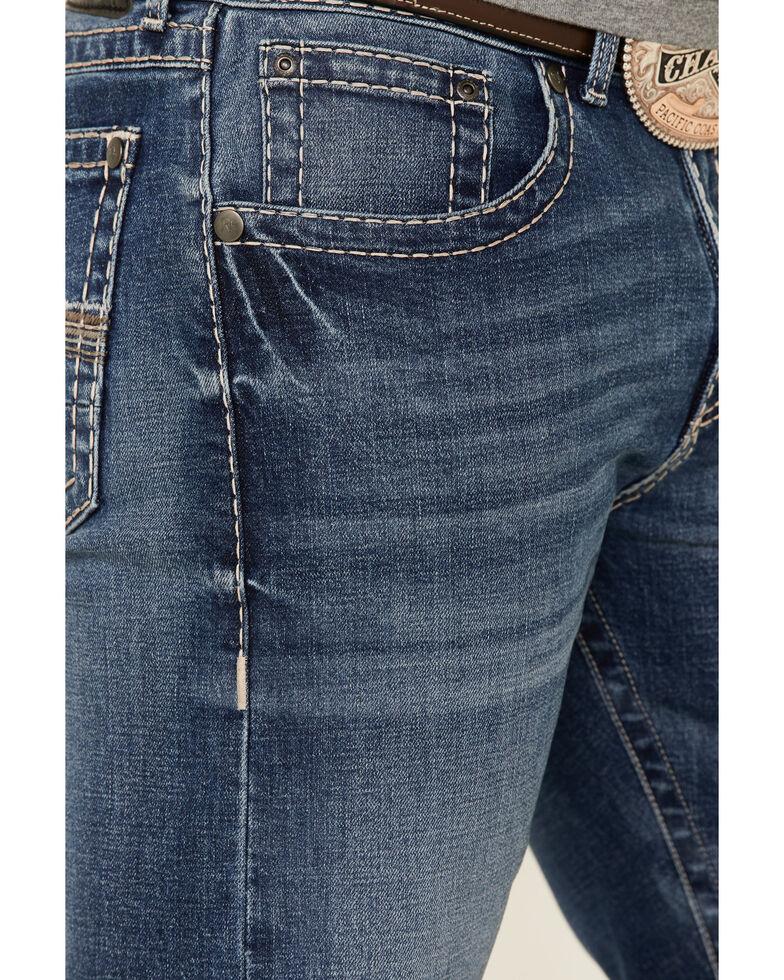 Rock 47 By Wrangler Men's Guitar Stretch Slim Straight Jeans , Blue, hi-res