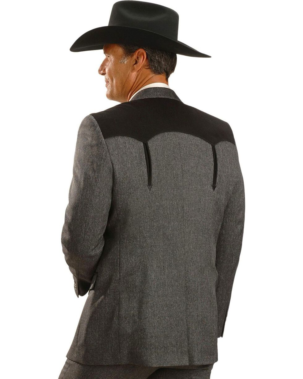 Circle S Boise Western Suit Coat - Big and Tall, Hthr Chrcl, hi-res