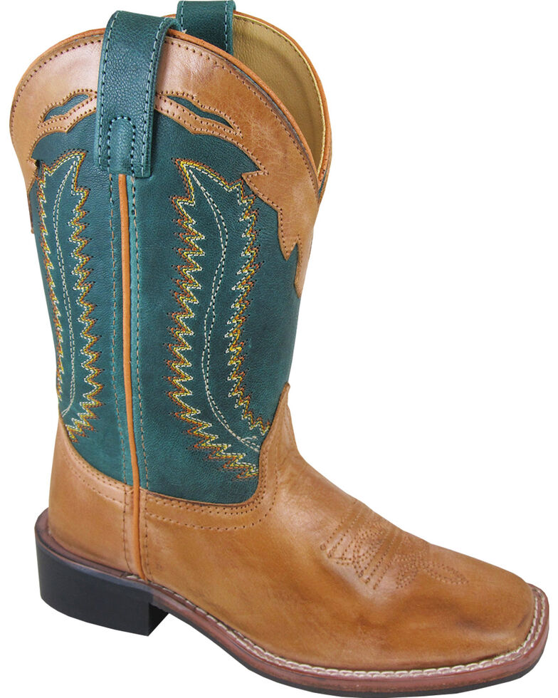 Smoky Mountain Boys' Frank Western Boots - Square Toe , Brown, hi-res