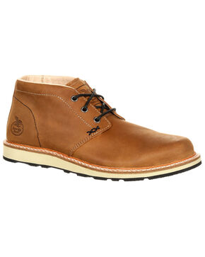 Georgia Boot Men's Small Batch Chukka Boots - Round Toe, Russett, hi-res
