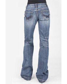 Stetson Women's Blue 214 Decorative Trousers, Blue, hi-res