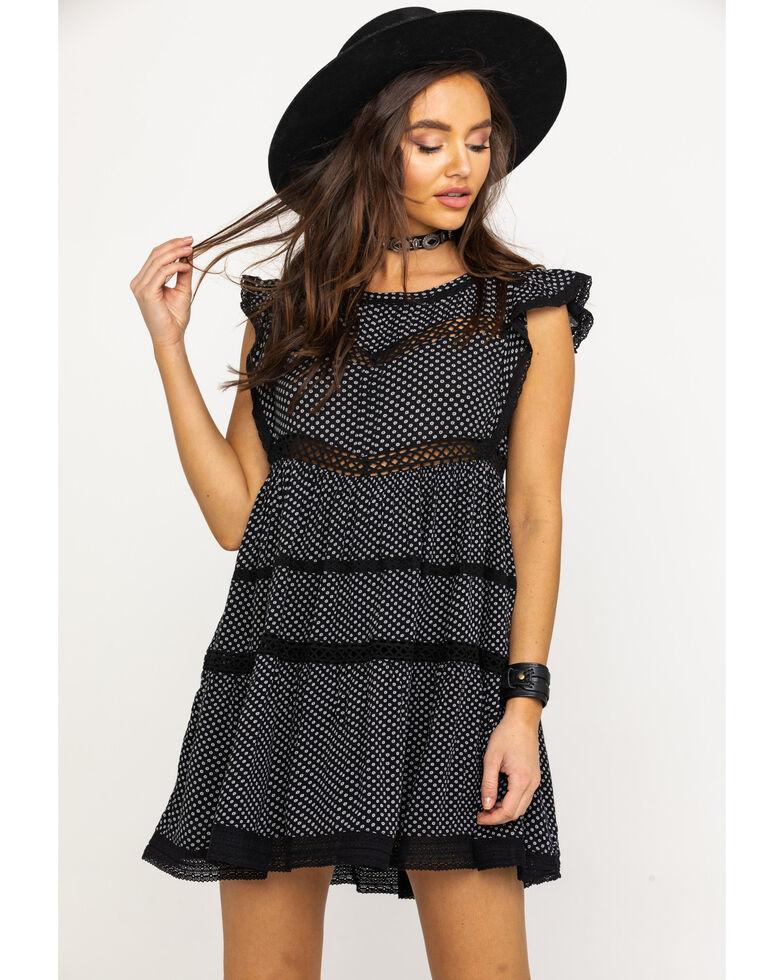 Free People Women's Retro Kitty Dress, Black, hi-res