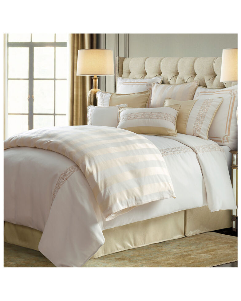 HiEnd Accents King Hollywood Comforter Set, Cream, hi-res