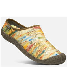 Keen Men's Bark Print Howser Slide Slip-On Hiking Shoes , Bark, hi-res