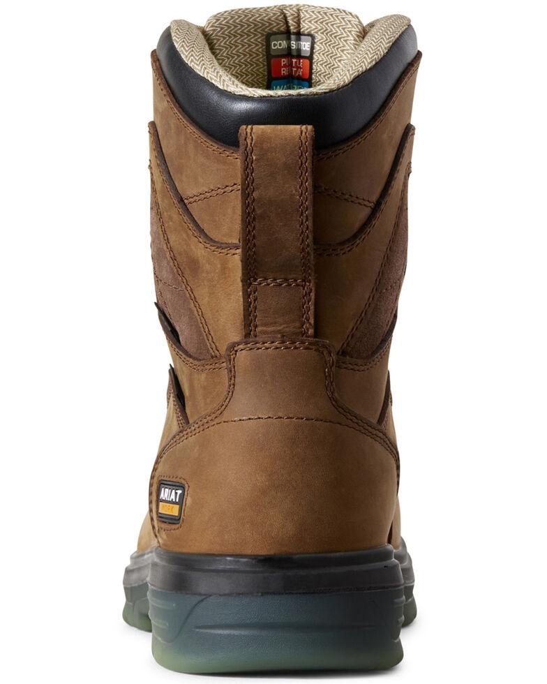 Ariat Men's Turbo Waterproof Work Boots - Carbon Toe, Brown, hi-res