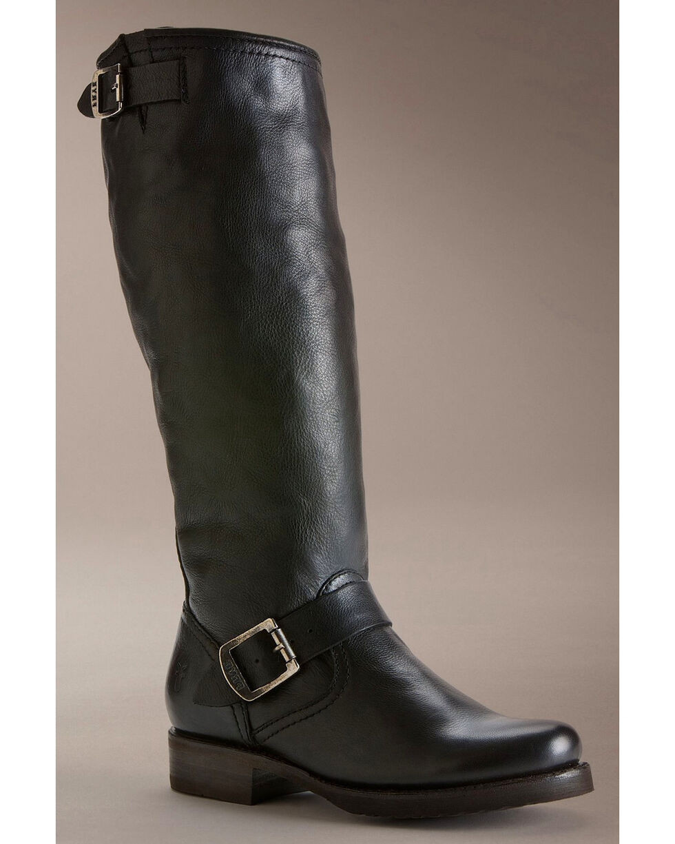 Frye Women's Veronica Slouch Riding Boots - Round Toe, Black, hi-res