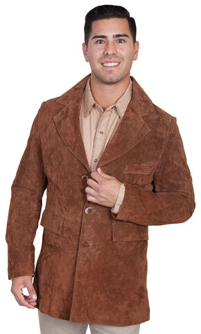 Scully Boar Suede Town Coat, Cinnamon, hi-res