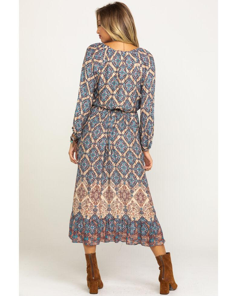 Stetson Women's Herringbone Border Dress, Brown, hi-res