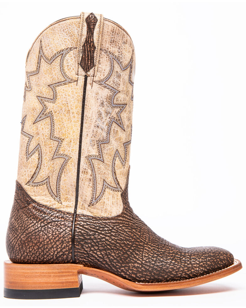 Cody James Men's Ambar Sanded Shark Western Boots - Square Toe, Brown, hi-res