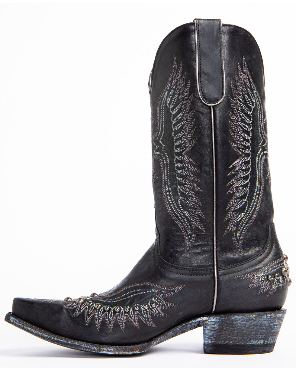 Idyllwind Women's Trouble Black Western Boots - Snip Toe, Black, hi-res
