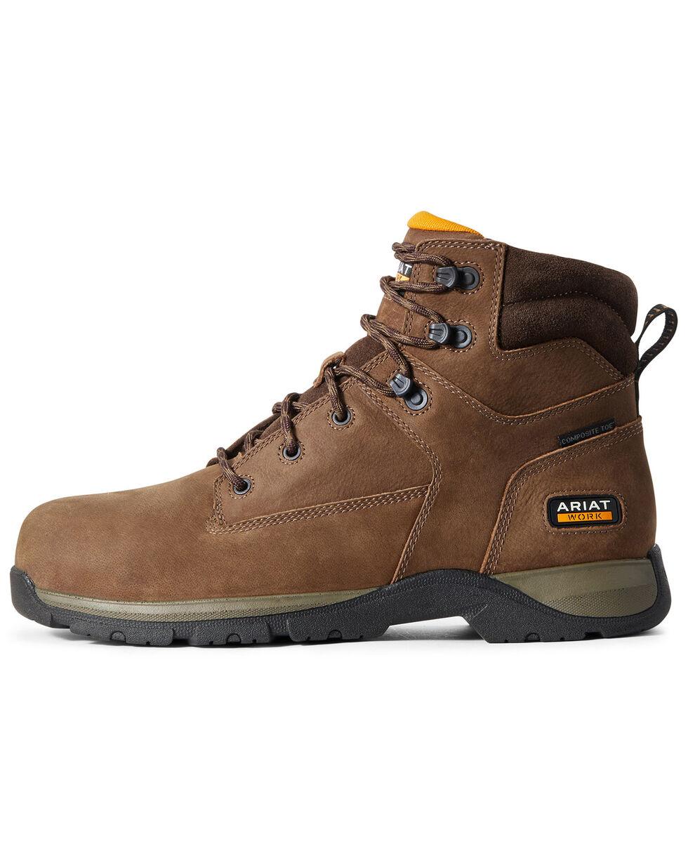 Ariat Men's Edge Lite Lace-Up Work Boots - Composite Toe, Brown, hi-res