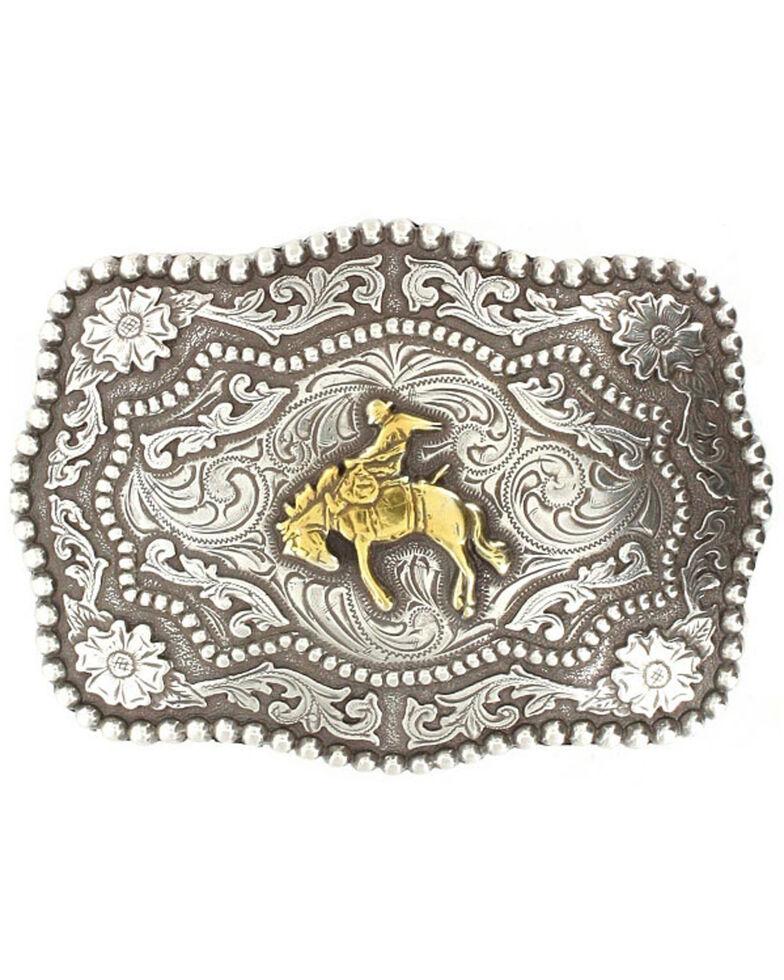 Cody James Men's Bucking Bronc Belt Buckle, Silver, hi-res