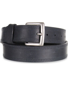 American Worker Men's Apache Triple Stitch Belt, Black, hi-res