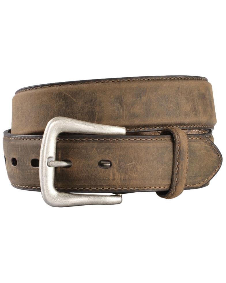 Nocona Basic Leather Belt, Med Brown, hi-res