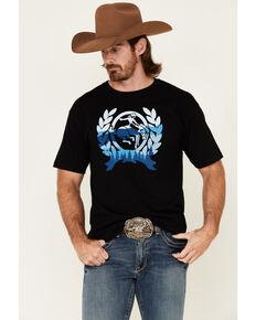 Cinch Men's Black Crest Logo Short Sleeve T-Shirt , Black, hi-res